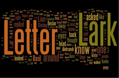 Wordle creation of my novel from this year's Camp NaNoWriMo.
