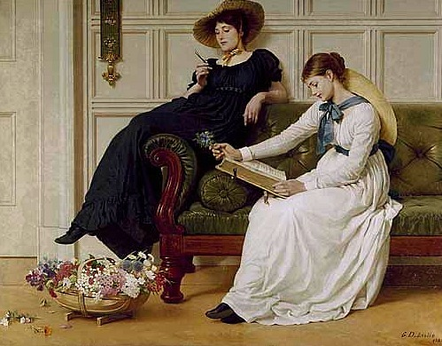 Leslie George Dunlop The Language of Flowers 1885