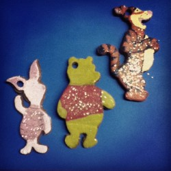 Pooh ornaments I made for Abe. (Taken with instagram)