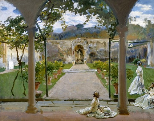 John Singer Sargent At Torre Galli: Ladies in a Garden  1910