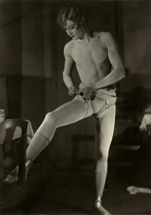 sisterwolf:  Barbette Dressing - Man Ray, 1926 Barbette (December 19, 1899 – August 5, 1973) was an American female impersonator, high wire performer and trapeze artist born in Texas on December 19, 1899. Barbette attained great popularity throughout the United States but his greatest fame came in Europe and especially Paris, in the 1920s and 1930s.