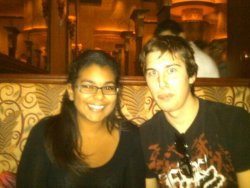 Cheesecake Factory! Since I can't go back to school until Monday/Tuesday, my friends came down to visit! This is Andrew by the way.