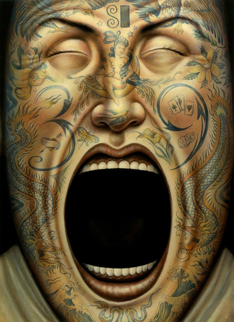 inkbutter:  Tattoo Face by Anita Kunz