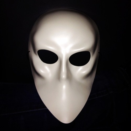 "EveryoneI wore this mask at the very cool performance of ""Sleep No More."" Very ""Eyes Wide Shut."" #photo (Taken with Instagram at Sleep No More)"