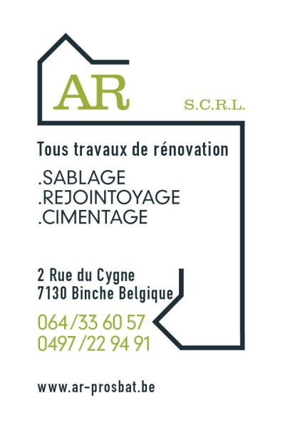 "Carte de Visite et logo réalisés pour ""AR  S.C.R.L"".  Business Card and Logo made for ""AR SCRL""."