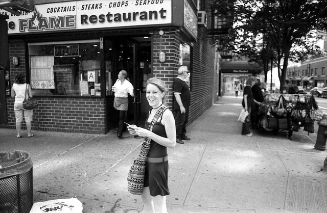 NYC on film, 11 on Flickr.Barbara, 59th St.book | blog | portfolio