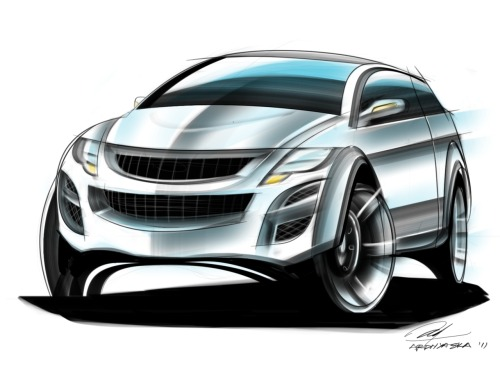SUV car sketch. Took 3 hours to finish'em up. actually not finished yet. maybe next time