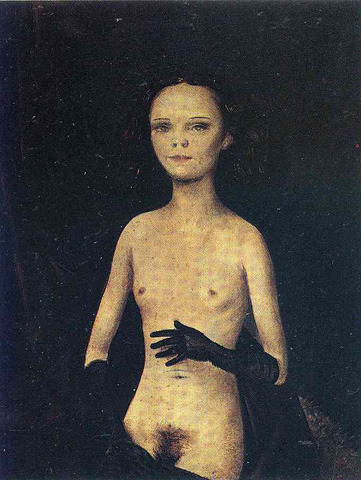 leda-swanson, jahsonic:  Venus with Gloves[2] 1932 private collection, by Otto Dix