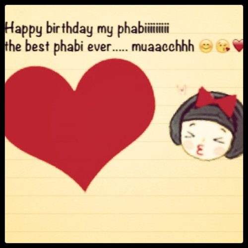 happy bday my phabi @lubnaa  #instagram #birthday #cousin #sister #love (Taken with instagram)