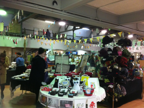 Our table view at the Yuletide Cheer craft market, this weekend at the Olympic Centre in Halifax.    Open Saturday and Sunday 11 to 6.