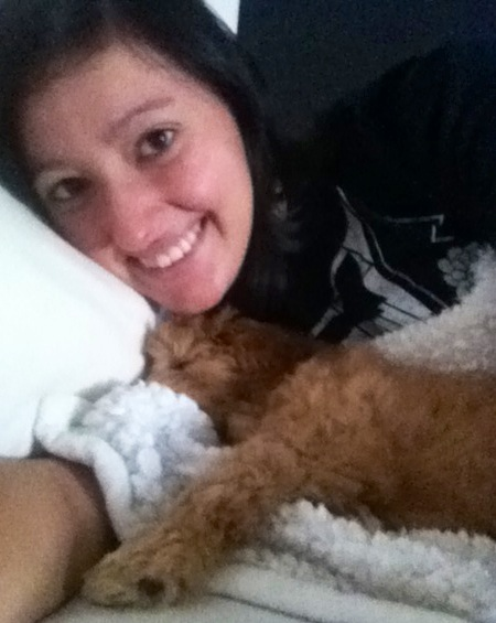Just woke up to some cuddling with my babe:)