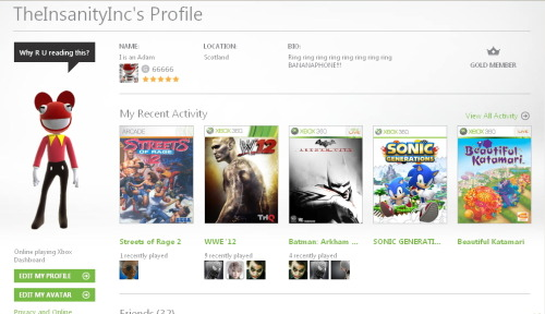 If 666 is the number of the beast… Then I guess a 66,666 GamerScore makes me an even bigger beast!!! ^_^ Yeah I know, 666 isn't actually the number of the beast blah blah QI knowledge blah blah shut up I has GamerScore :P