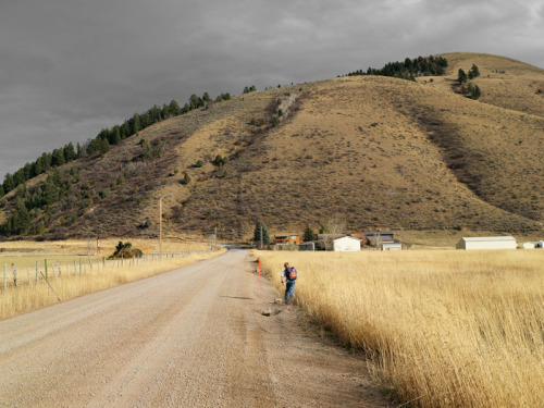 Alex Running Home, Wyoming, from Froncountry Lucas Foglia