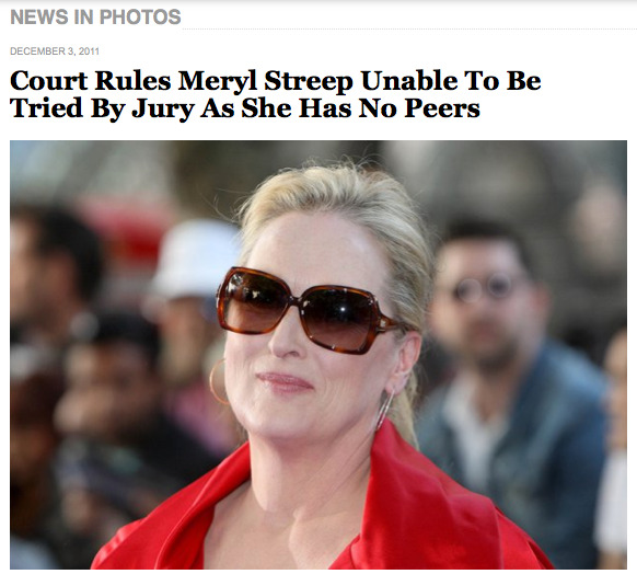 Oh Meryl, how I love thee.