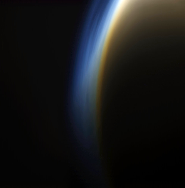 Michael Benson's Planetary Landscapes: Titan's atmospheric haze