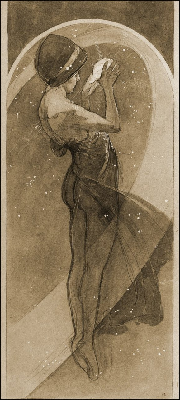 fuckyeahpali:  North Star (1902) Alphonse Mucha  That man was all about the butts.