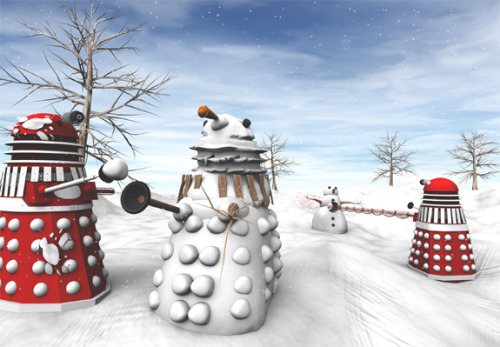 Exterminating in a winter wonderland.