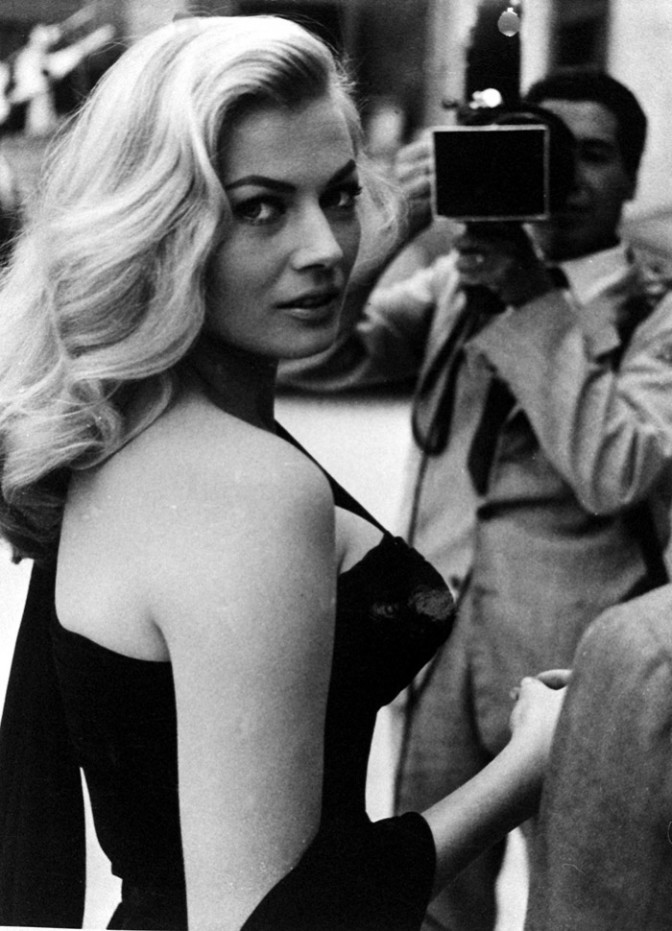 raniapapillon:  Anita Ekberg on the set of La Dolce Vita