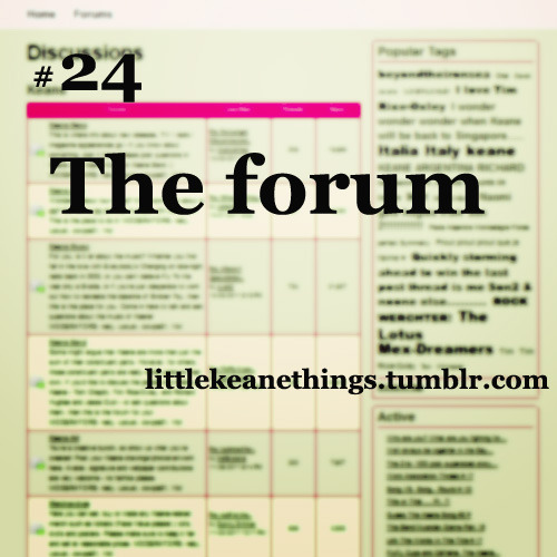 #24 The forum suggestion by Anon