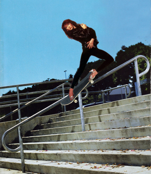 vile-insect:  skatebush:  Back Smith  Ross showed me a blog that is purely photographs of Kate Bush skateboarding. No, they are not photoshopped images of skateboarders with Kate Bush over then, nuppp I refuse to believe that. They are actually Kate Bush. Yep.