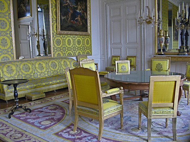 | ♕ |  A salon in Grand Trianon, Versailles  | by © annieclic
