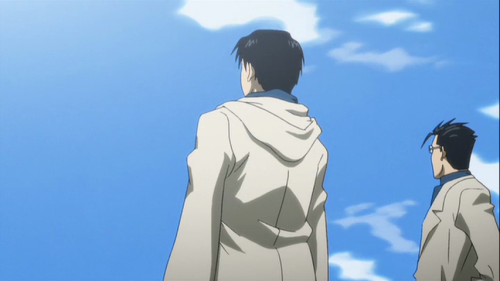 the episode in which Roy Mustang has an existential crisis after realizing that he can't make out any shapes in the clouds in his dream and wonders what that means about his personality