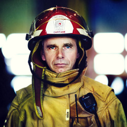 Firefighter  (front Page of DIGIPHOTO PRO magazine) by Benoit.P on Flickr.