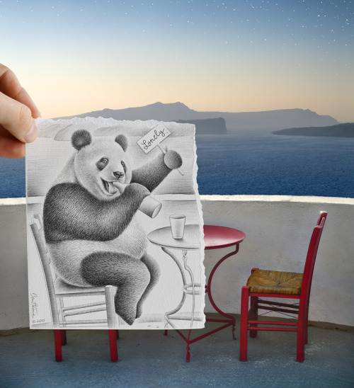 Makes perfect sense to me. (from Ben Heine's Pencil vs. Camera series)