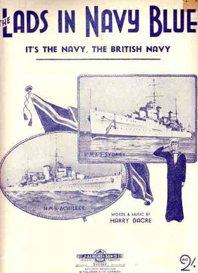 "sailorgil:  "" The Lads in Navy Blue "" ….. Sheet Music, Copyright 1899 & 1940"