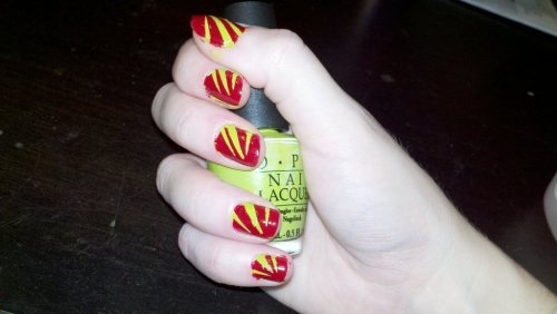 An attempt at festive nails … yay or nay? (Taken with picplz.)