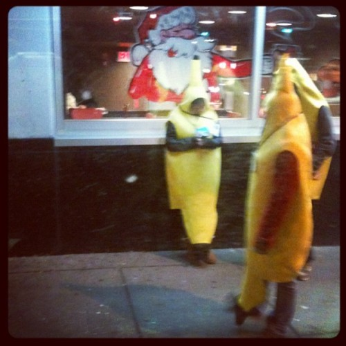So 3 people in banana suits are hanging out (Taken with instagram)