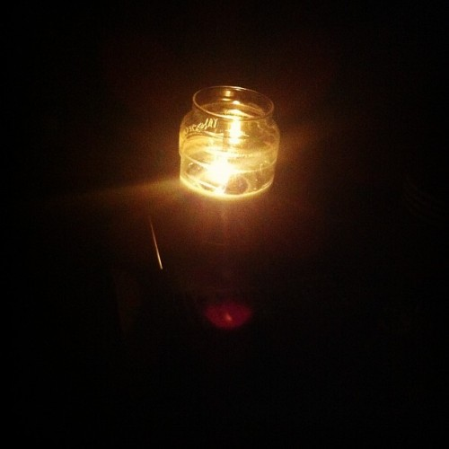 #candlelight #balsamcedar #darkness (Taken with instagram)