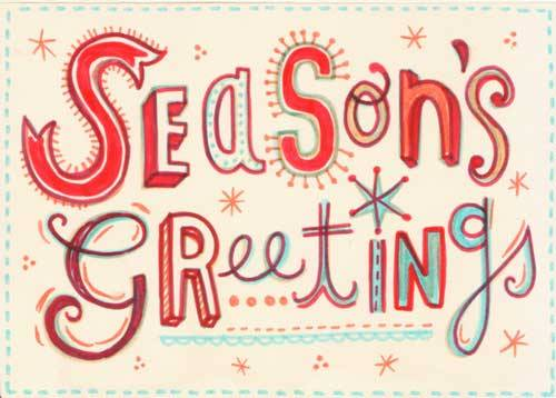 25 New Year and Christmas Greeting Card Designs