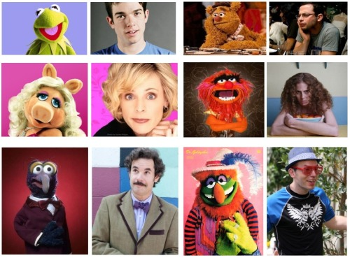 comedynerdsunited:   Comedians as Muppets | The Complete Collection  By CNU Editor Danielle Some of you may have noticed that I posted these individually on my personal tumblr earlier tonight, but I didn't want to torture you guys with 15 different posts about this, so I condensed them into one! I hope you enjoy them as much as I enjoyed casting them.