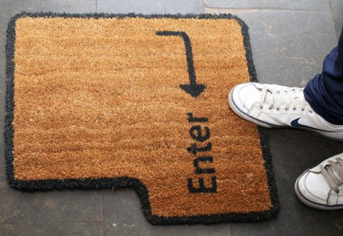 photojojo:  Now this is a clever doormat! via Zeutch.