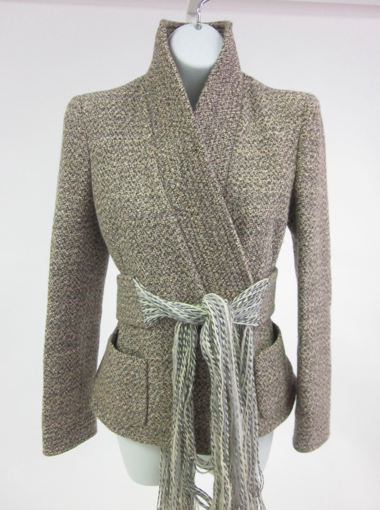 Ebay find of the day: Alexander McQueen tweed belted jacket.