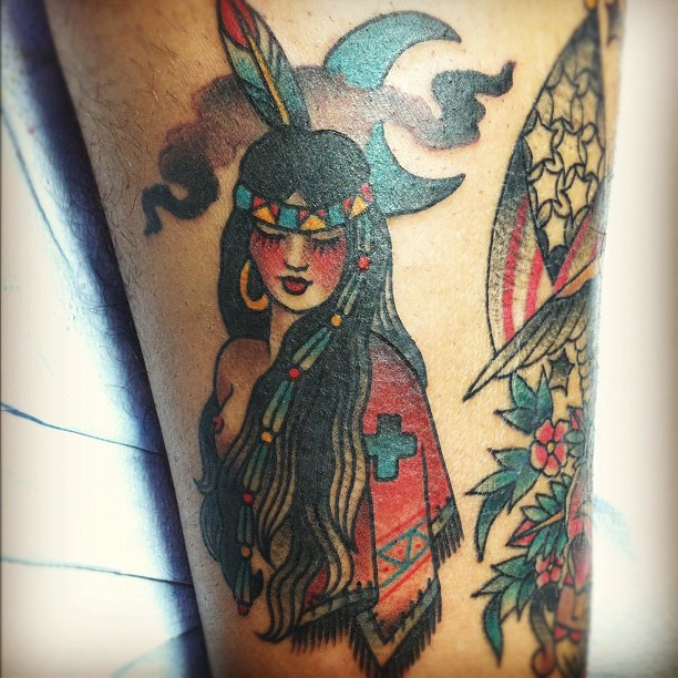 Got this lil babe yesterday. Done by my homegirl Marina Inoue.