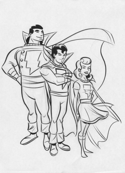 thehappysorceress:  Marvel Family by Derek Fridolfs  Magic Monday