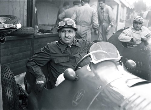 Juan Manuel Fangio at the 1953 Belgian Grand Prix