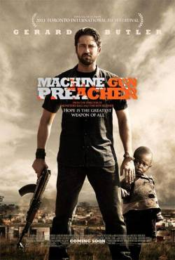 Machine Gun Preacher (2011)  Director: Marc Forster  Stars: Gerard Butler, Michelle Monaghan  Some people were given second chance in their life. Some even third, fourth chances,some only got two and make the best out of it. After struggling with drug issues, heavy crimes, even murders, Sam Childers - portrayed perfectly by Gerard Butler - sans the round stomache, decided that he will quit his tough life and made serious effort to find God, to bring his life to the…well, peaceful path. With the help of his wife, played by Michelle Monaghan, Sam went back to the church and proposed himself to be baptized. Leaving drugs, cocaine, and such Sam focused on his construction business, which surprisingly turned out very good and he afford the family to move to a better house, leaving their trailer home. A visit from a priest from a Christian church in Sudan brought another consciousness to Sam. His life changed drastically since then. Marc Foster, the director of this film, brought very close the vivid picture of how children in Sudan were becoming the victims of the never ending war. A local war general has been identified as the main actor behind the killing of 400 thousands of people, and more than 40 thousand children have been dragged into sexual slavery or turning them into kids soldiers. Some scenes were graphics, there for this film was not meant for children, or weak hearted ones. Sam, is probably the example of the very few people who have found his purpose in life. He traveled back and forth from Africa to United States to keep everything going - his family - and the children that he has to protect and feed - up to now - in an orphanage that he built solely from his own money. Nothing special about the images, but the sets, and the children who play the parts were awesome.The film itself is categorized into drama despite several shooting scenes, explosions, and murders. Some people, like Sam, have decided that he will take part in the fight to make a small part of Sudan to become a better place for these children - because the world seems to have forgotten this war zone country. And Sam is not the first character in such film where the character somewhat took the oath to set everything's right in their own way. But to realize that this film was made based on a real life person's who actually still alive and still travel back and forth - enduring thousands of miles - leaving his comfort zone, raised his guns, used his own money, to bring joy to many unfortunate kids, and made someone else's fight become his fights is just…