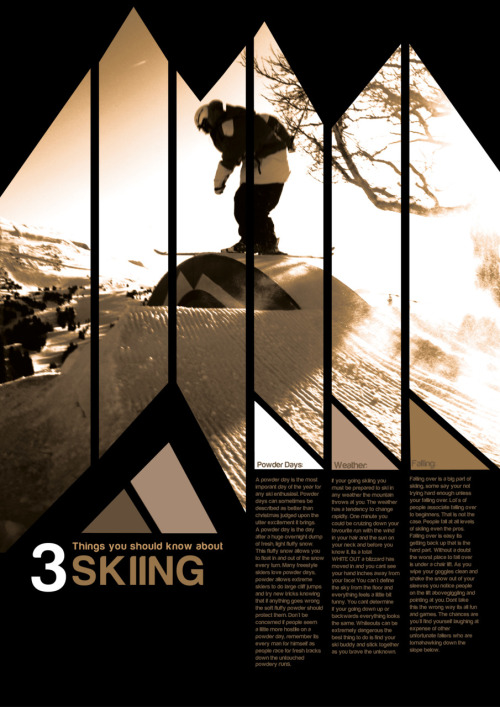1st year project, 3 things you should know about skiing.