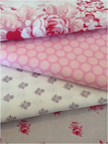 looking forward to a sewing session with these lovely pink fabrics to make a few stocking fillers…