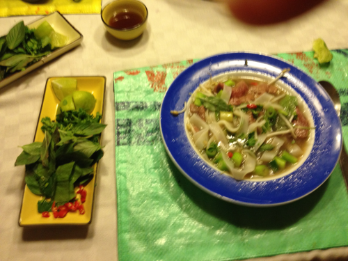 Food weekend part 1: Yesterday @nienkez made Phở. Excellent!