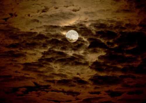 Moon in the Clouds by Mr. Physics on Flickr. Clouds racing by the moon -Backpacking, Hiking, & Camping Gear