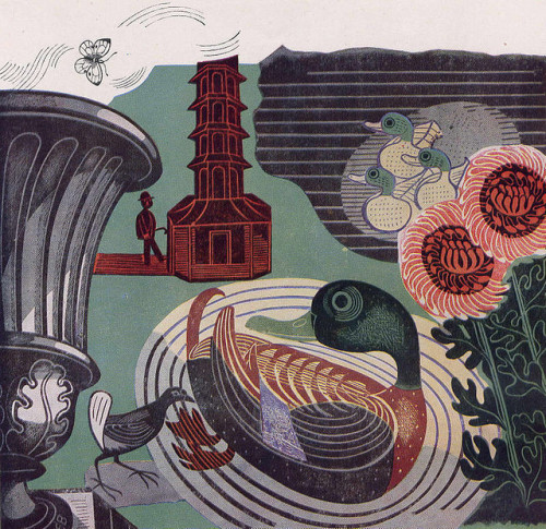 Kew Gardens by Edward Bawden 1936 (via If Charlie Parker) by peacay on Flickr.