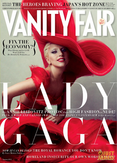 Lady Gaga is on the cover of Vanity Fair's January 2012 issue. The last time she was on the cover was for the September 2010 issue. Which cover do you like better? Cover story preview is here. Image via Vanity Fair.