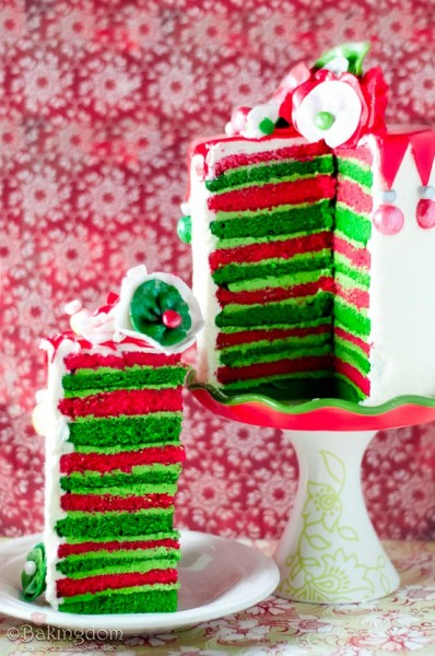 Look out Christmas desserts!  Whimsical Eggnog Christmas Cake is here! Don't like eggnog?? I promise you'll love it in cake!!