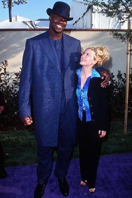 Alicia Silverstone and Shaquille O'Neal, MTV Movie Awards, 1996.