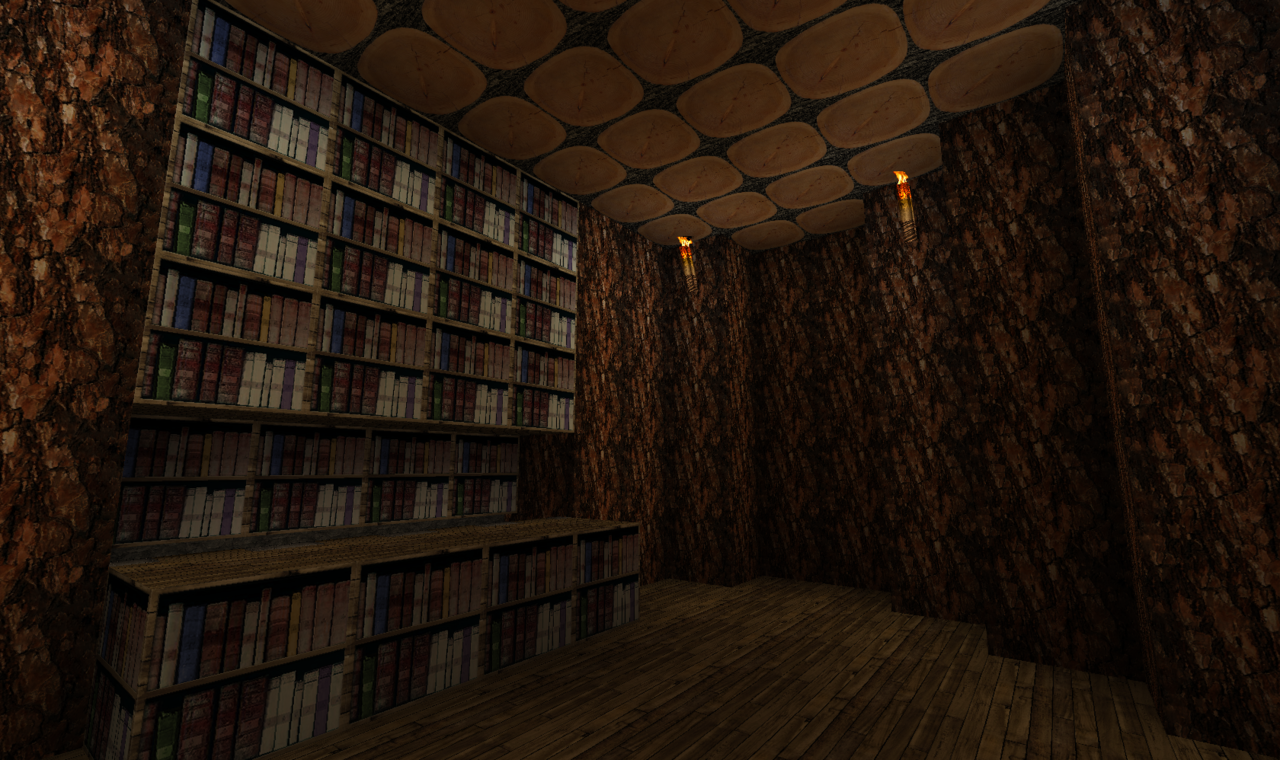 minecraftexplore:  Inside our tree library.