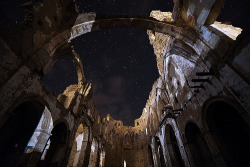 theworldwelivein:  Belchite Night | Belchite, Aragon, Spain©  David Martin Castan
